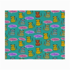 Meow Cat Pattern Small Glasses Cloth (2-Side)