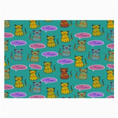 Meow Cat Pattern Large Glasses Cloth (2-Side)