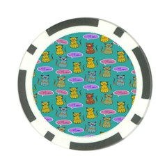 Meow Cat Pattern Poker Chip Card Guard