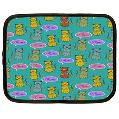 Meow Cat Pattern Netbook Case (large)