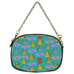 Meow Cat Pattern Chain Purses (two Sides)