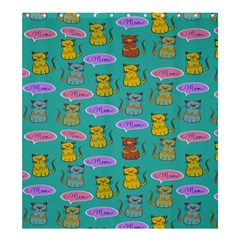 Meow Cat Pattern Shower Curtain 66  X 72  (large)