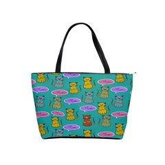 Meow Cat Pattern Shoulder Handbags