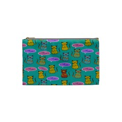 Meow Cat Pattern Cosmetic Bag (Small)