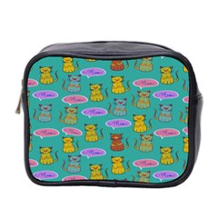 Meow Cat Pattern Mini Toiletries Bag 2 Side