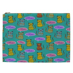 Meow Cat Pattern Cosmetic Bag (XXL)