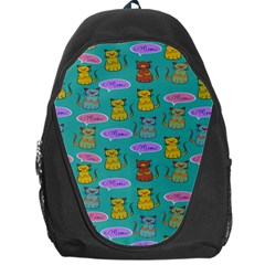 Meow Cat Pattern Backpack Bag