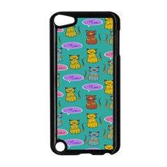 Meow Cat Pattern Apple Ipod Touch 5 Case (black)