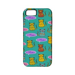 Meow Cat Pattern Apple Iphone 5 Classic Hardshell Case (pc+silicone)