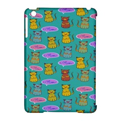 Meow Cat Pattern Apple Ipad Mini Hardshell Case (compatible With Smart Cover)