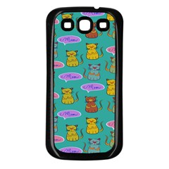 Meow Cat Pattern Samsung Galaxy S3 Back Case (black)