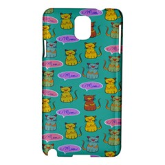 Meow Cat Pattern Samsung Galaxy Note 3 N9005 Hardshell Case