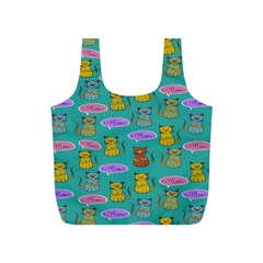 Meow Cat Pattern Full Print Recycle Bags (s)