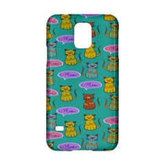 Meow Cat Pattern Samsung Galaxy S5 Hardshell Case