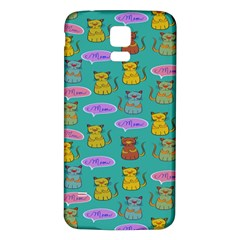Meow Cat Pattern Samsung Galaxy S5 Back Case (white)