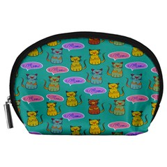 Meow Cat Pattern Accessory Pouches (large)