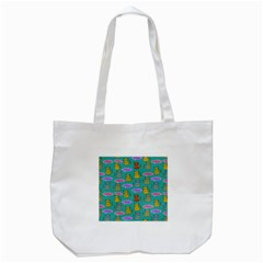 Meow Cat Pattern Tote Bag (white)