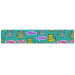 Meow Cat Pattern Flano Scarf (large)