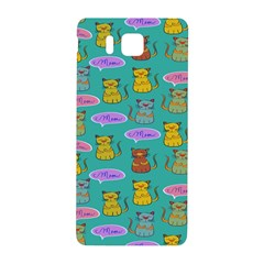Meow Cat Pattern Samsung Galaxy Alpha Hardshell Back Case