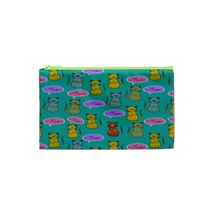 Meow Cat Pattern Cosmetic Bag (XS)