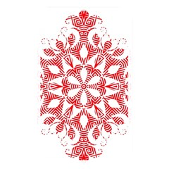Red Pattern Filigree Snowflake On White Memory Card Reader