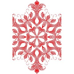 Red Pattern Filigree Snowflake On White 5 5  X 8 5  Notebooks