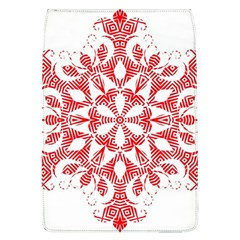 Red Pattern Filigree Snowflake On White Flap Covers (l)
