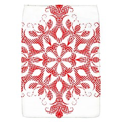Red Pattern Filigree Snowflake On White Flap Covers (s)