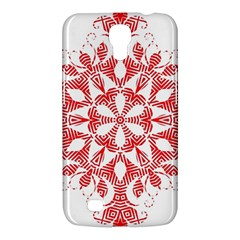 Red Pattern Filigree Snowflake On White Samsung Galaxy Mega 6 3  I9200 Hardshell Case