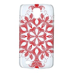 Red Pattern Filigree Snowflake On White Galaxy S4 Active