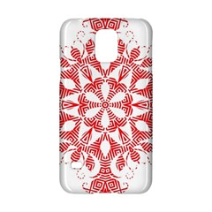 Red Pattern Filigree Snowflake On White Samsung Galaxy S5 Hardshell Case