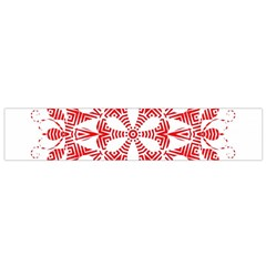 Red Pattern Filigree Snowflake On White Flano Scarf (small)