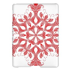 Red Pattern Filigree Snowflake On White Samsung Galaxy Tab S (10.5 ) Hardshell Case