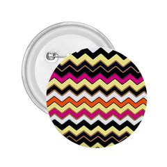 Colorful Chevron Pattern Stripes 2 25  Buttons