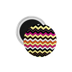 Colorful Chevron Pattern Stripes 1.75  Magnets