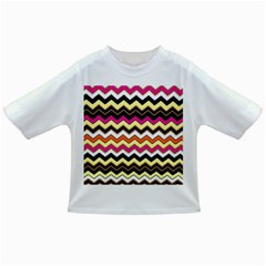 Colorful Chevron Pattern Stripes Infant/toddler T Shirts