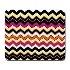 Colorful Chevron Pattern Stripes Large Mousepads