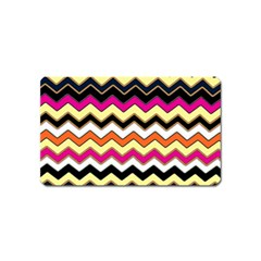 Colorful Chevron Pattern Stripes Magnet (name Card)