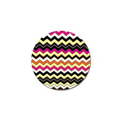 Colorful Chevron Pattern Stripes Golf Ball Marker (10 Pack)