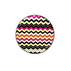 Colorful Chevron Pattern Stripes Hat Clip Ball Marker (4 Pack)
