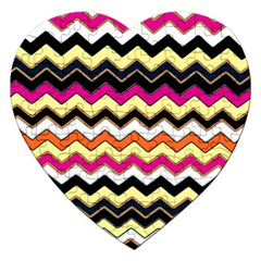 Colorful Chevron Pattern Stripes Jigsaw Puzzle (Heart)