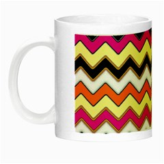 Colorful Chevron Pattern Stripes Night Luminous Mugs