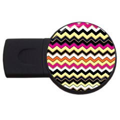 Colorful Chevron Pattern Stripes Usb Flash Drive Round (4 Gb)