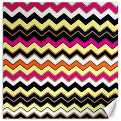Colorful Chevron Pattern Stripes Canvas 12  X 12