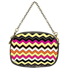 Colorful Chevron Pattern Stripes Chain Purses (one Side)