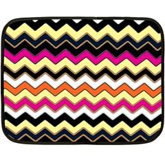 Colorful Chevron Pattern Stripes Fleece Blanket (mini)