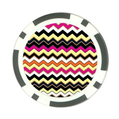 Colorful Chevron Pattern Stripes Poker Chip Card Guard (10 Pack)