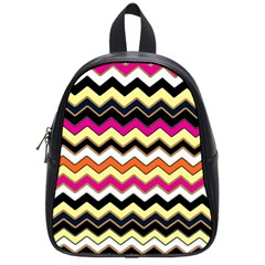 Colorful Chevron Pattern Stripes School Bags (small)