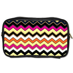 Colorful Chevron Pattern Stripes Toiletries Bags