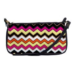 Colorful Chevron Pattern Stripes Shoulder Clutch Bags
